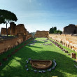 Ruins of Stadium Domitanus at the Palatine Hill in Rome, Italy - Stockfoto