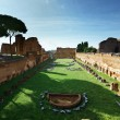 Ruins of Stadium Domitanus at the Palatine Hill in Rome, Italy - Стоковая фотография