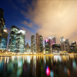 Stock Photo: Night view of Singapore