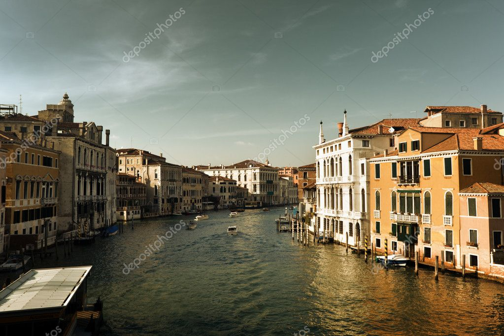 Grand Canal in Venice, Italy in sunset time — Stock Photo #10282227
