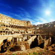Inside of Colosseum in Rome, Italy - Stock Photo
