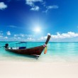 Wood boat on the beach — Stock Photo #10482687