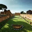 Ruins of Stadium Domitanus at the Palatine Hill in Rome, Italy — Stock Photo #10486873