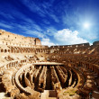 Inside of Colosseum in Rome, Italy - Foto Stock