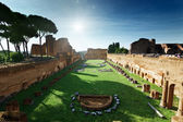 Ruins of Stadium Domitanus at the Palatine Hill in Rome, Italy — Stockfoto