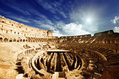 Inside of Colosseum in Rome, Italy — Stockfoto