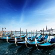 Royalty-Free Stock Photo: Gondolas on Grand Canal and San Giorgio Maggiore church in Venic