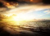 Amanecer y océano atlántico — Foto de Stock