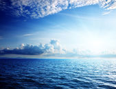Caribbean sea and perfect sky — Stock Photo