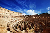 Inside of Colosseum in Rome, Italy — Stok fotoğraf