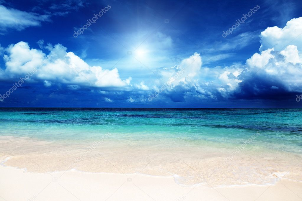 Sand of beach caribbean sea — Stock Photo #9967021