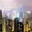 Hong Kong island from Victoria's Peak at night — Stock Photo