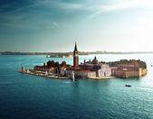 Vista de isla de san giorgio, venecia, italia — Foto de Stock