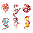 Glass asihot dragon colored sign set — Stock Vector #10071463