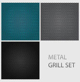 Abstract chrome iron metal texture set — Stock Vector