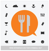 Abstract web interface symbols set — Stock Vector
