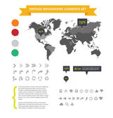 Web infographic elements set isolated — Stock Vector