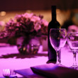 Table decorated for romantic dinner for two. — Stock Photo #10569481