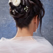 Bride with beauty hairstyle — Stock Photo
