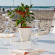 Stock Photo: Wedding reception on beach