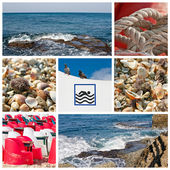 Sea Collage — Stock Photo