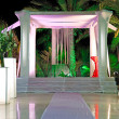 Jewish traditions wedding ceremony. Wedding canopy (chuppah or h - Stock Photo