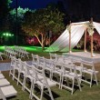 Stock Photo: Jewish wedding ceremony canopy (chuppah or huppah)