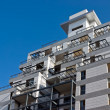Residential building construction site and blue sky — Stock Photo