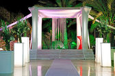 Jewish traditions wedding ceremony. Wedding canopy (chuppah or h — Photo
