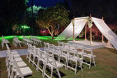 Jewish wedding ceremony canopy (chuppah or huppah) — Stock Photo