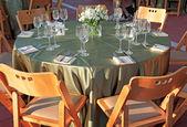 сервировка стола для свадьбы — Стоковое фото