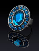 Серебряное кольцо — Стоковое фото