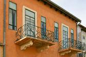Oude balkon — Stockfoto
