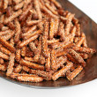 Royalty-Free Stock Photo: Crispy straw (sticks) on white background