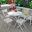 Stock Photo: White furniture in beautiful garden.