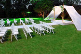 Jewish traditions wedding ceremony. Wedding canopy (chuppah or h — Stock Photo