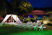 Jewish wedding ceremony canopy (chuppah or huppah) — Foto Stock