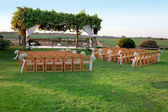 Outdoor wedding ceremony canopy (chuppah or huppah) — Stock fotografie