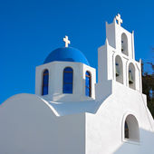 Greek orthodox church in Santorini, Greece — Stock Photo