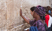Wailing Wall Jerusalem, prayer — Stock Photo