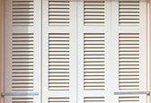 White shutters — Stock Photo