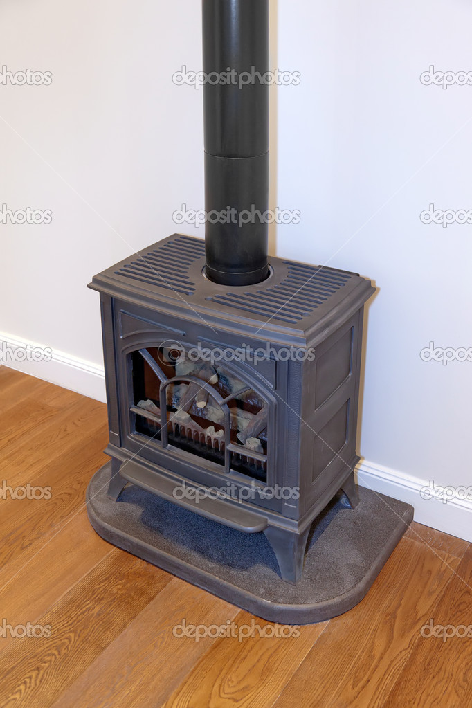 Old fashioned wood fireplace — Stock Photo #10608542
