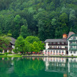 Stock Photo: Beautiful house on lake Wolfgangsee Austri(Village St.
