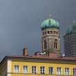 "Stock Photo: Restoration church Frauenkirche two towers of ""Cathedral of"