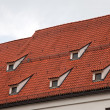Red tile roof in Munich, Germany - Stock Photo