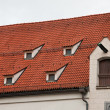Red tile roof in Munich, Germany — Stock Photo