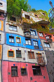 Hundertwasser House in Vienna, Austria. — Stock Photo