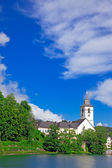 Village St. Wolfgang on the lake Wolfgangsee Austria — Stock Photo