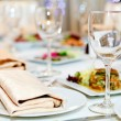 Served table in restaurant — Stock Photo