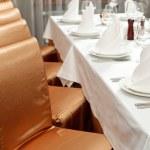 ajuste de la tabla bien en el restaurante gourmet — Foto de Stock   #9205027